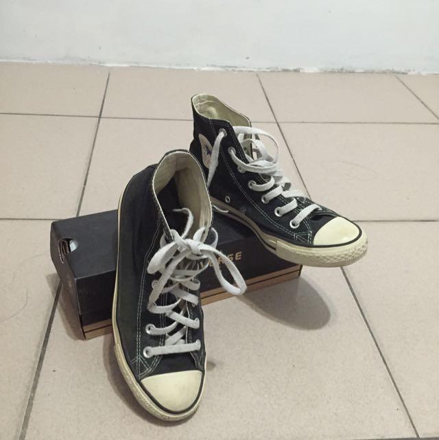 (保留)高筒帆布鞋