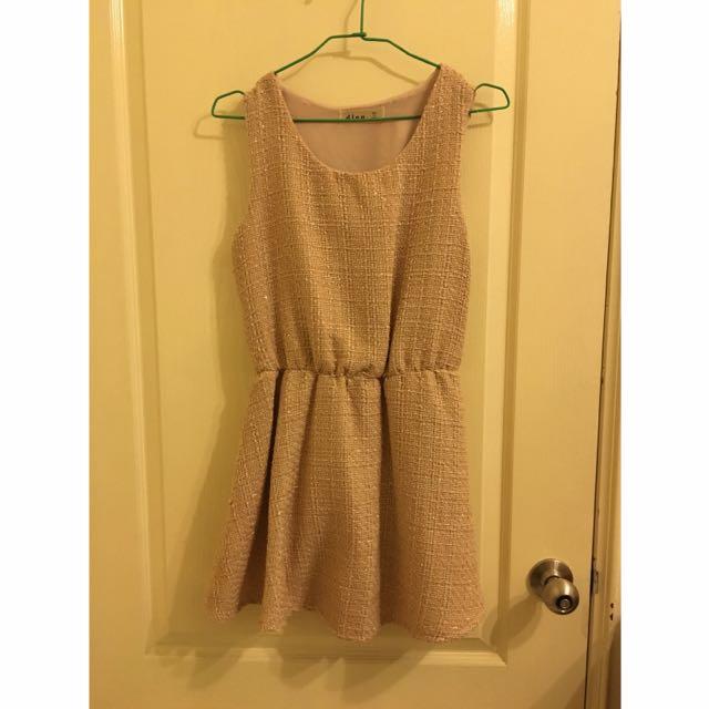 氣質 小香風格 杏色 洋裝