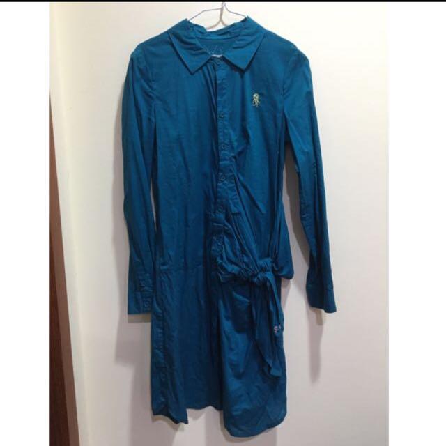 a la sha不規則設計襯衫洋裝