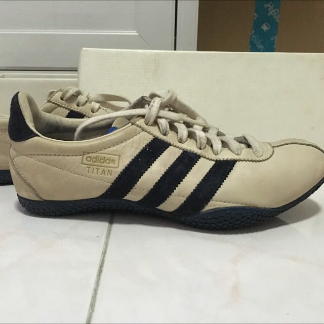 adidas titan beige and navy shoes
