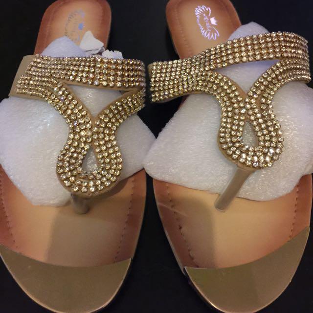 Brand New Jeweled Sandal Size 8