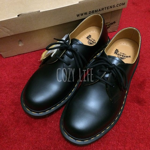 《英國代購》Dr. Martens 經典1461黑色3孔馬汀靴 馬丁
