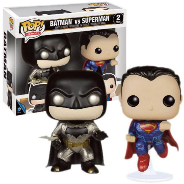 Vinyl Figure Metallic Set Ltd Batman v Superman Pop
