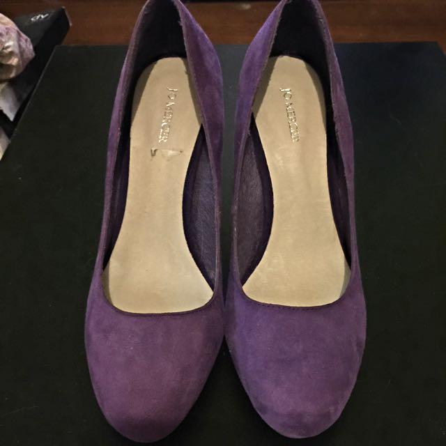 Jo Mercer Purple Suede Heels Size 8