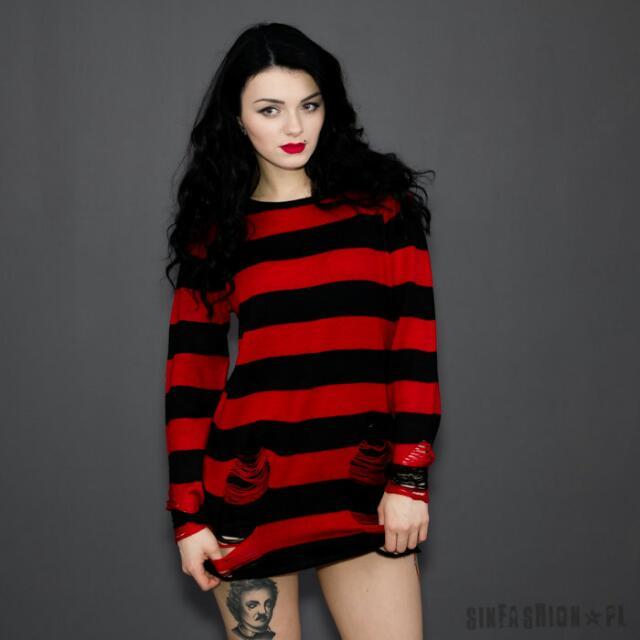 Killstar Krueger Distressed Knit Sweater Pending Entertainment J