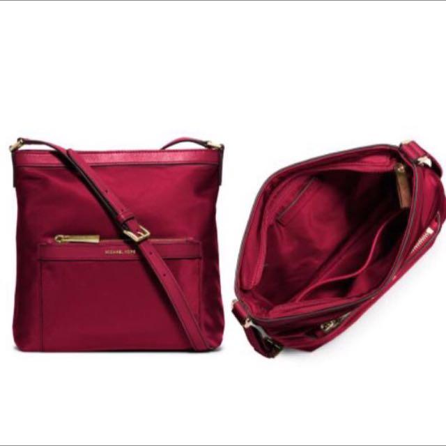 ef337e6b32dd Michael Kors Morgan Medium Messenger Bag - Cherry Red, Women's ...