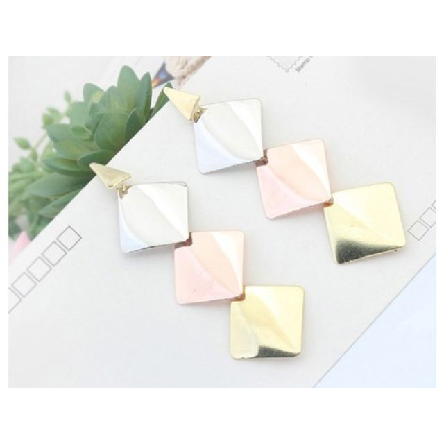 (NEW) F21 Anting Square Pastel
