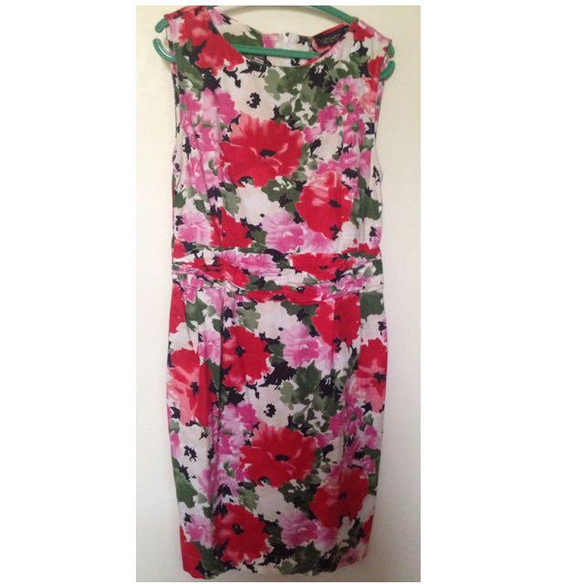 Preloved Topshop Vintage Floral Dress