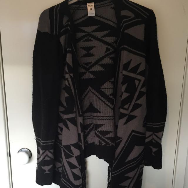 Print Blanket Cardigan Size m