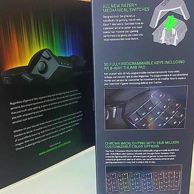 Razer Orbweaver Chroma, Men's Fashion on Carousell