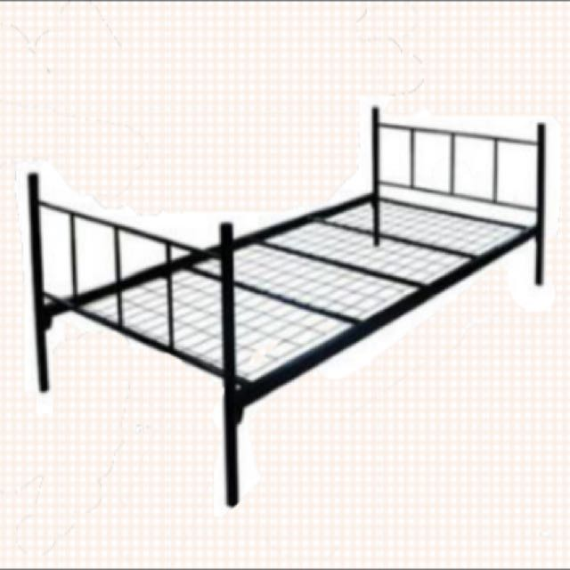 Single Metal Bed frame (USED-SECOND HAND), Furniture on Carousell