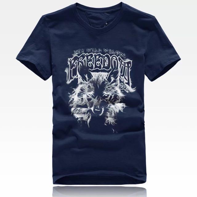 [貝麗潮流]潮男穿搭短袖T恤幽靈狼