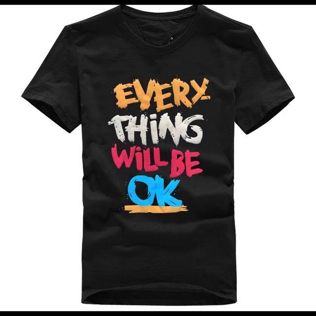 [貝麗潮流]潮男穿搭短袖T恤Every Thing Will Be Ok