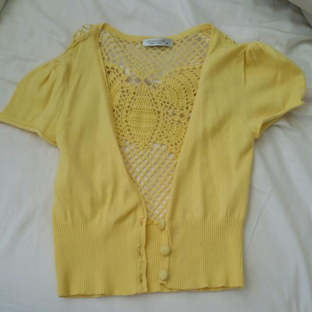 Yellow Mini Cardigan Size XS