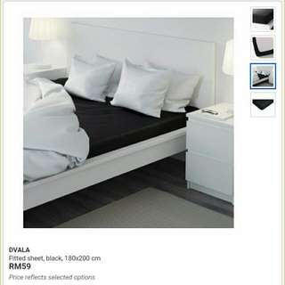 I'm looking for DVALA Bed Sheets in Black Color (Single Bed Size)