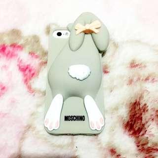 平❗️IPHONE 5/5s Moschino 手機殻手機套 兔仔 灰 可愛 韓 Case