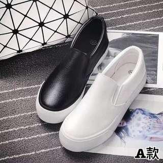 🔘韓版春夏平底皮質懶人鞋