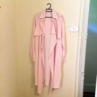 Runaway The Label Pink Duster Coat