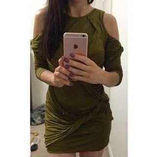 Shakuhachi Long Sleeved Tight Dress