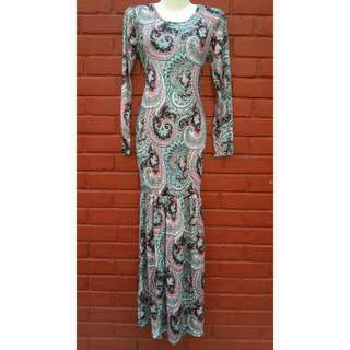 Reserved - (NEW) Paisley Long Dress/Bodycon