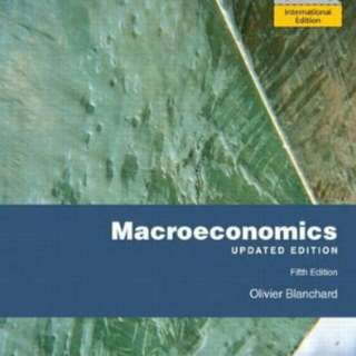 Macroeconomics by Olivier Blanchard - International Edition (5th Edition)
