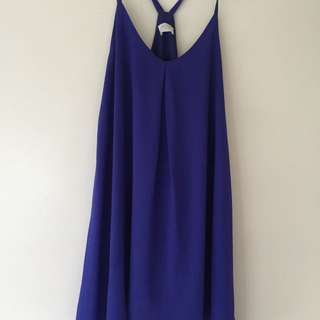 T Back Electric Blue Dress