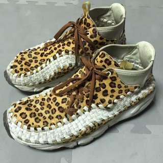 Nike豹紋編織鞋