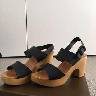 Platform Black Shoes