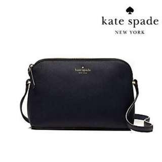 kate spade new york 貝殼包(黑) 全新 百貨專櫃