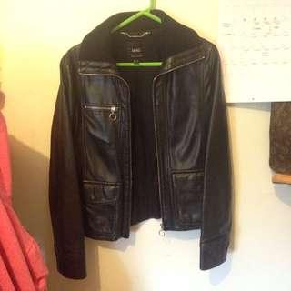 Leather Mango jacket