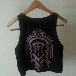 Aztec Mid drift tank top