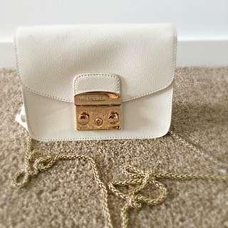 For Her, Furla Shoulder Bag, White, Authentic