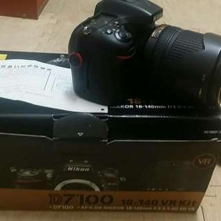 Nikon D7100 with kit lens 18~140