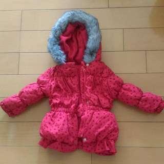 大紅色嬰幼兒外套