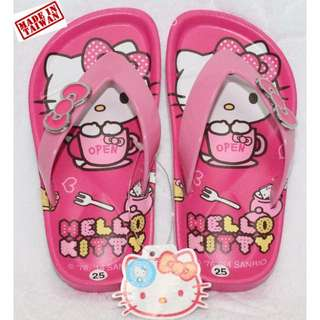4dd4945e2 [NEW] HELLO KITTY KIDS SLIPPERS-DARK PINK K 3285 [MADE IN TAIWAN