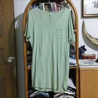 Uniqlo素色綠洋裝 #轉轉來交換