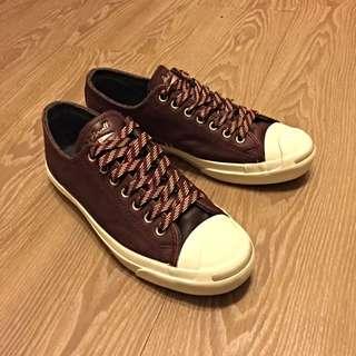 Converse Jack Purcell 開口笑 咖啡色皮面低筒鞋 US9