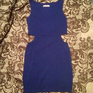 Electric Blue Cut Out Dress - Supre