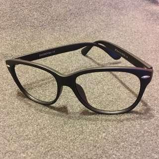 韓國旅遊購買*造型無鏡片黑框眼鏡