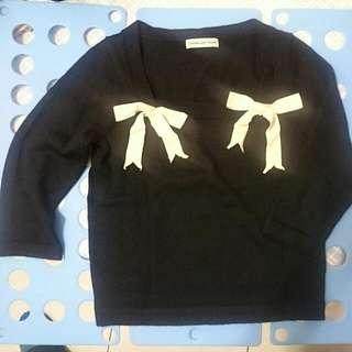 chang-lee Yugin設計師款-方領造型短版金織衫