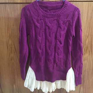 Stylish purple knitted top