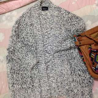 (誠可議)Zara海毛款開襟毛衣罩衫