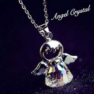[Sale Now! Limited Stocks] Korean Crystal Angel Necklace