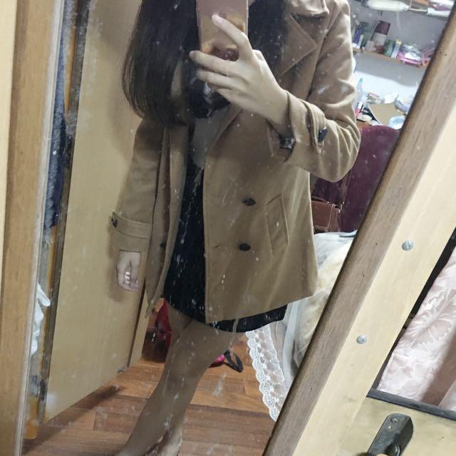 駝色大衣外套