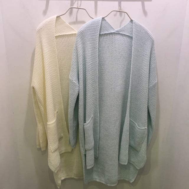 韓國帶回 正韓 春感針織外套 現貨 白色