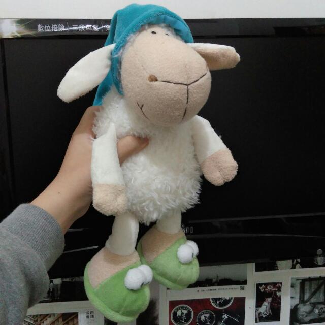 大降 免運 NICI 綿羊 布偶 娃娃 瞌睡羊 34cm