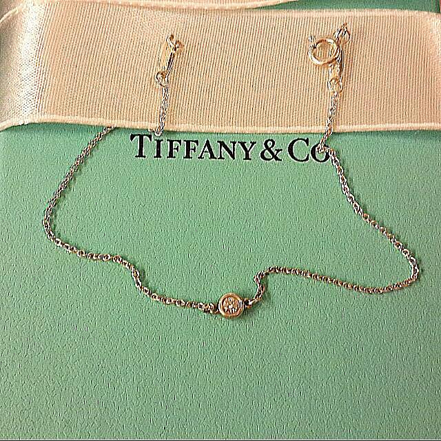 全新💎 Tiffany&Co. DBY(Dimonds By the Yard)系列鑽飾 真鑽 單鑽手鍊