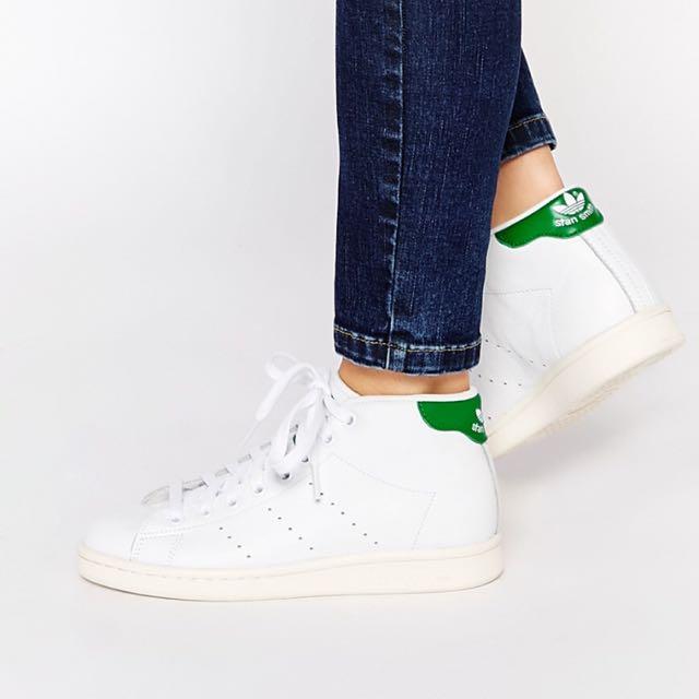 Adidas Stan Smith高筒綠色