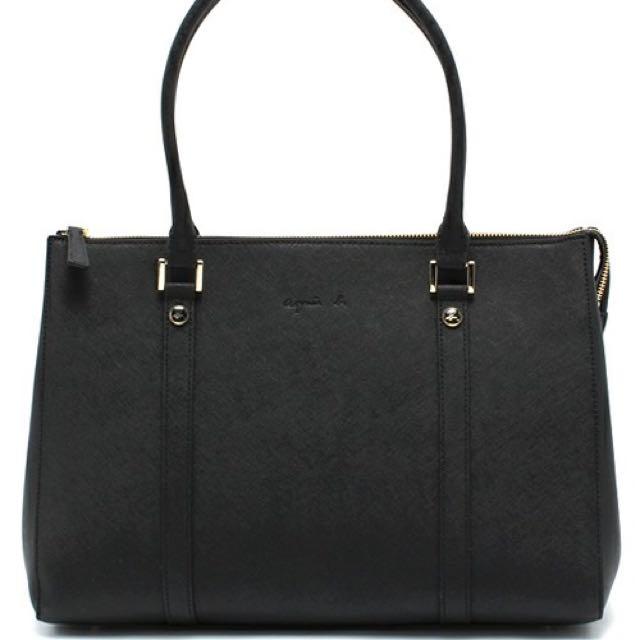 Agnes b.   牛皮手提包