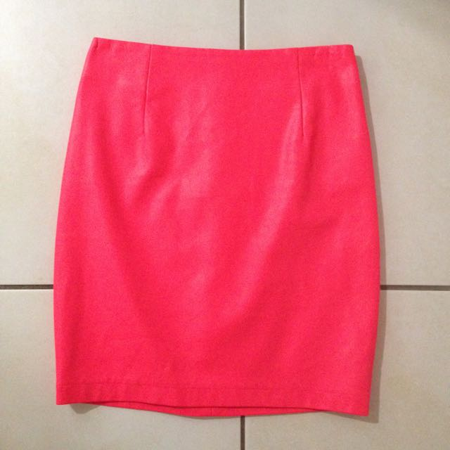 Bardot Hot Pink Leather Mini Skirt Size 6
